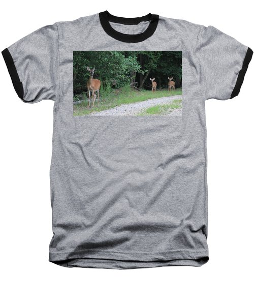 Doe With Twins Baseball T-Shirt