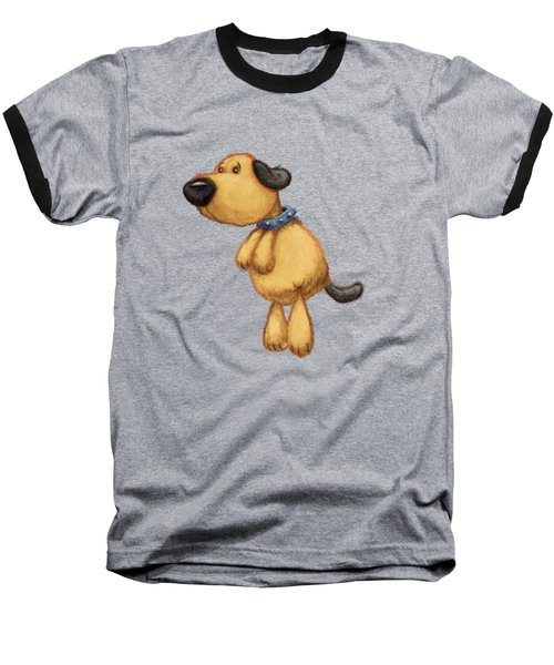 dog Baseball T-Shirt by Andy Catling