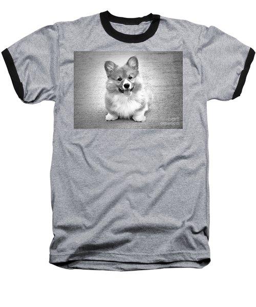 Puppy - Monochrome 6 Baseball T-Shirt