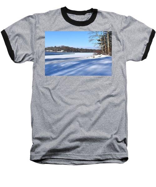 Dog Pond In Winter 1 Baseball T-Shirt