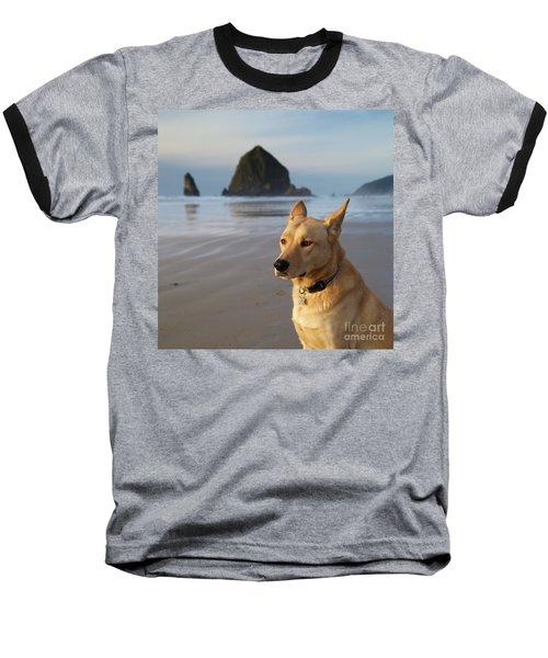 Dog Portrait @ Cannon Beach Baseball T-Shirt