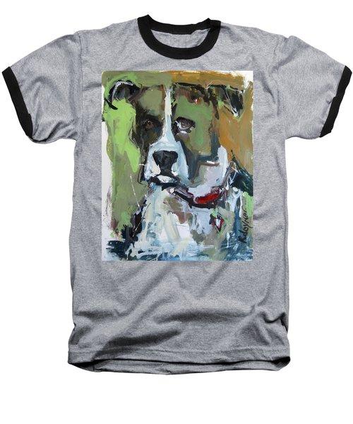 Baseball T-Shirt featuring the painting Dog Portrait by Robert Joyner