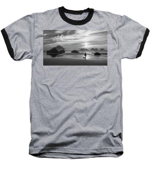 Dog Walker Bw Baseball T-Shirt