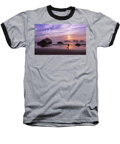 Dog Walker Baseball T-Shirt