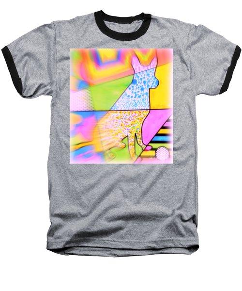 Dog Baseball T-Shirt by Wbk