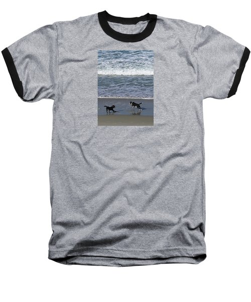 Baseball T-Shirt featuring the photograph Doggie Fun by Nareeta Martin