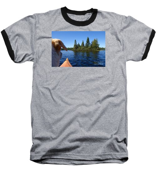 Baseball T-Shirt featuring the photograph Dogs Love Kayaking Too by Sandra Updyke