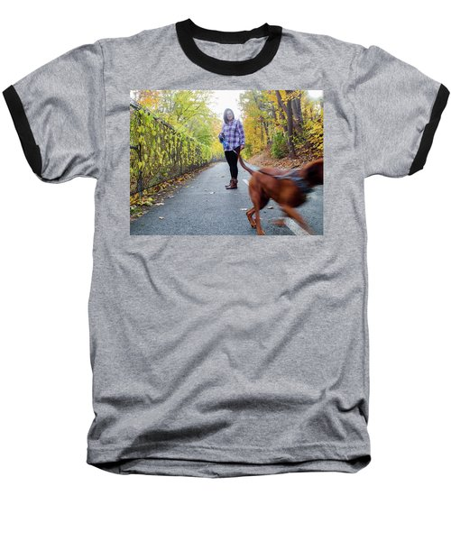 Dogwalking Baseball T-Shirt