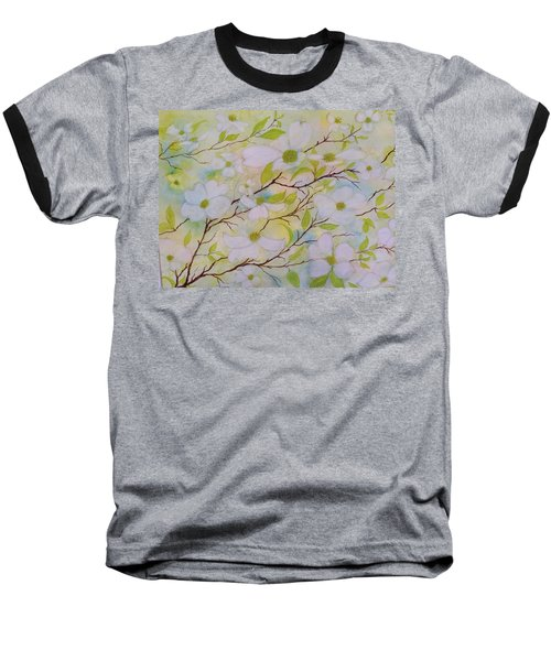 Dogwood Blossoms Baseball T-Shirt