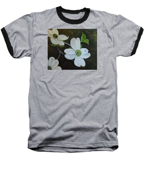 Baseball T-Shirt featuring the painting Dogwood Dream by Sandra Nardone
