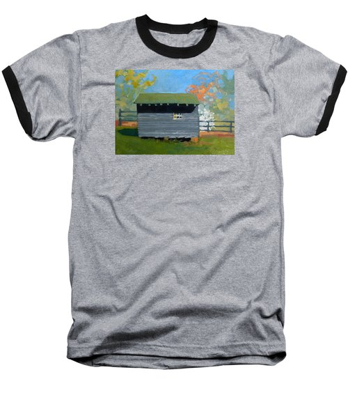 Dogwood Farm Shed Baseball T-Shirt by Catherine Twomey