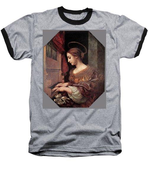 Dolci Carlo St Cecilia At The Organ Baseball T-Shirt by Carlo Dolci