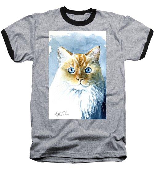 Doll Face Flame Point Himalayan Cat Painting Baseball T-Shirt