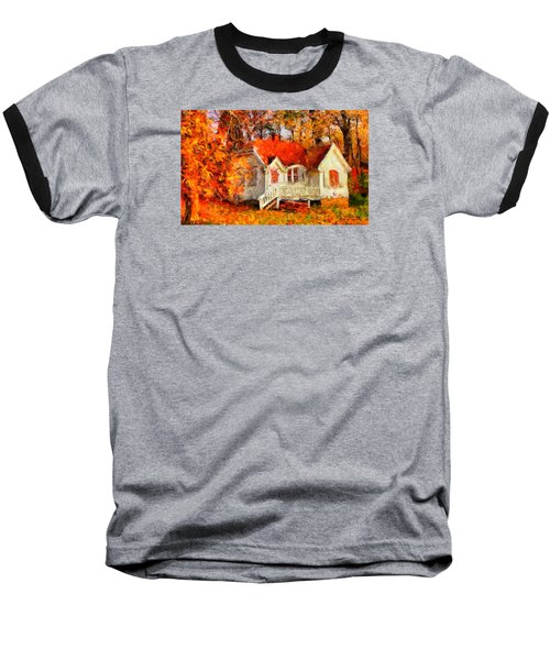 Doll House And Foliage Baseball T-Shirt