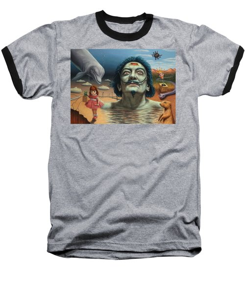 Dolly In Dali-land Baseball T-Shirt by James W Johnson
