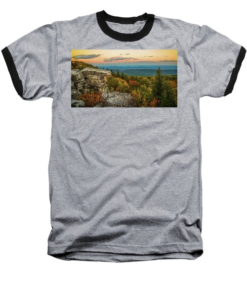 Dolly Sods Autumn Sundown Baseball T-Shirt