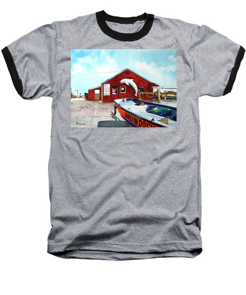 Dolphin Dock II Baseball T-Shirt