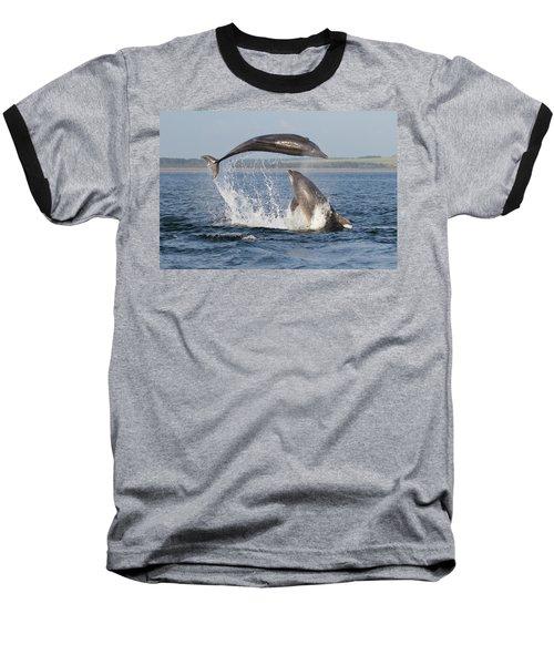 Dolphins Having Fun Baseball T-Shirt