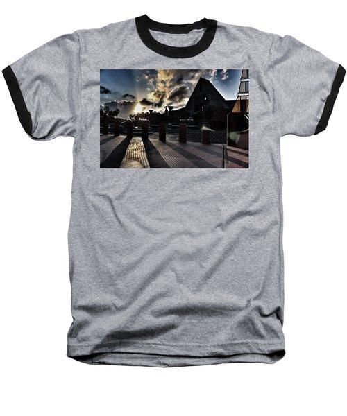 Dolphin Hotel Sunset Baseball T-Shirt