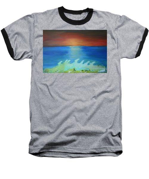 Dolphin Waves Baseball T-Shirt