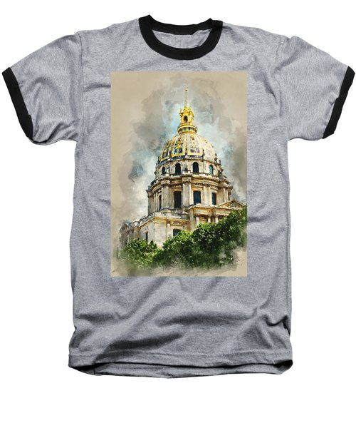 Dome Des Invalides Baseball T-Shirt by Kai Saarto
