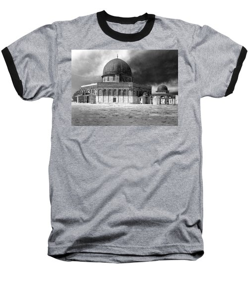 Dome Of The Rock - Jerusalem Baseball T-Shirt by Munir Alawi