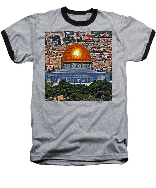 Dome Of The Rock Baseball T-Shirt
