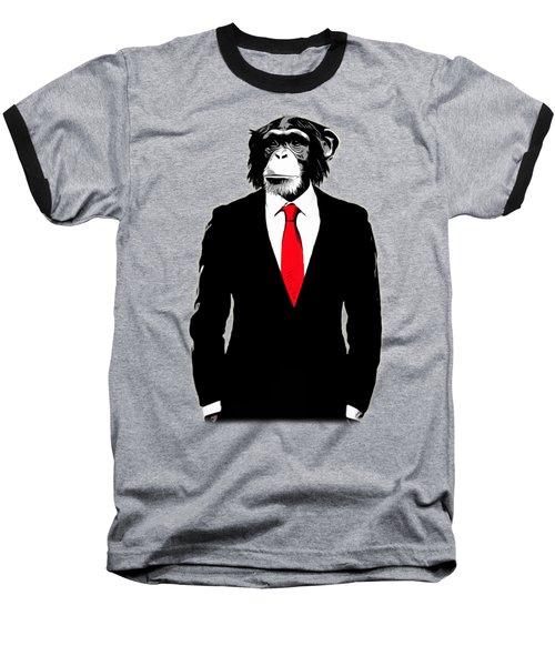 Domesticated Monkey Baseball T-Shirt
