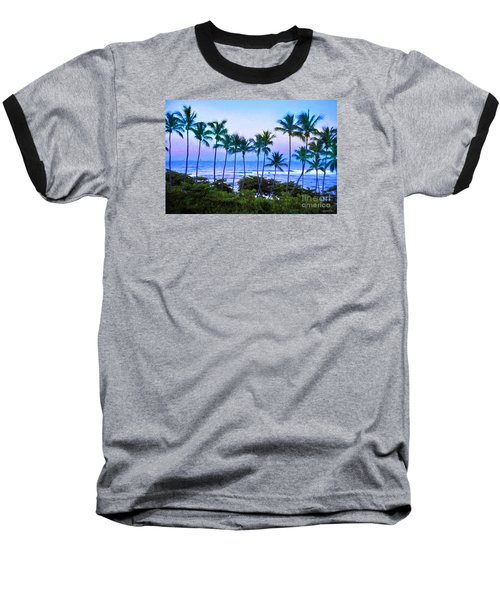 Dominican Palms Twilight Baseball T-Shirt by Linda Olsen
