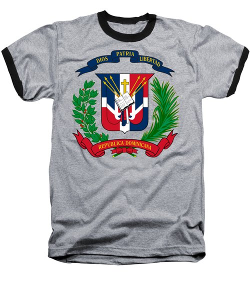 Dominican Republic Coat Of Arms Baseball T-Shirt by Movie Poster Prints