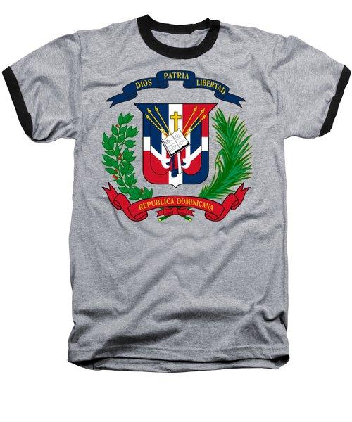 Dominican Republic Coat Of Arms Baseball T-Shirt
