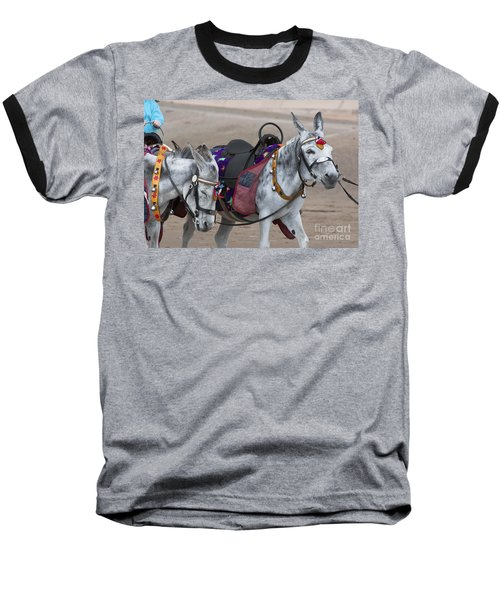 Donkeys On Blackpool Beach Baseball T-Shirt