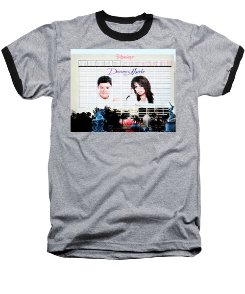 Donny And Marie Osmond Large Ad On Hotel Baseball T-Shirt