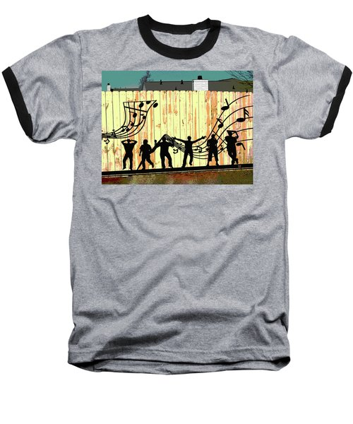 Don't Fence Me In Baseball T-Shirt by Charles Shoup