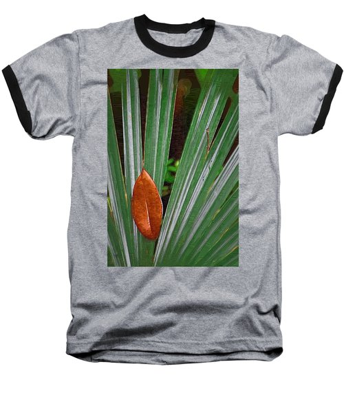 Baseball T-Shirt featuring the photograph Don't Leaf by Donna Bentley