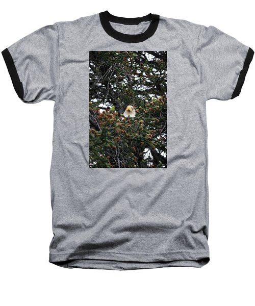 Don't Let Him Fool You He Might Be Blinking But He's Still Watching Me Baseball T-Shirt by Dacia Doroff