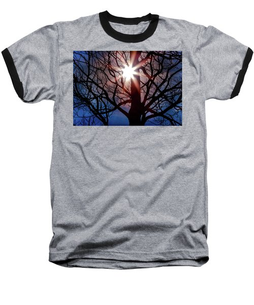 Don't Lose Sight Of It All Baseball T-Shirt by Karen Wiles