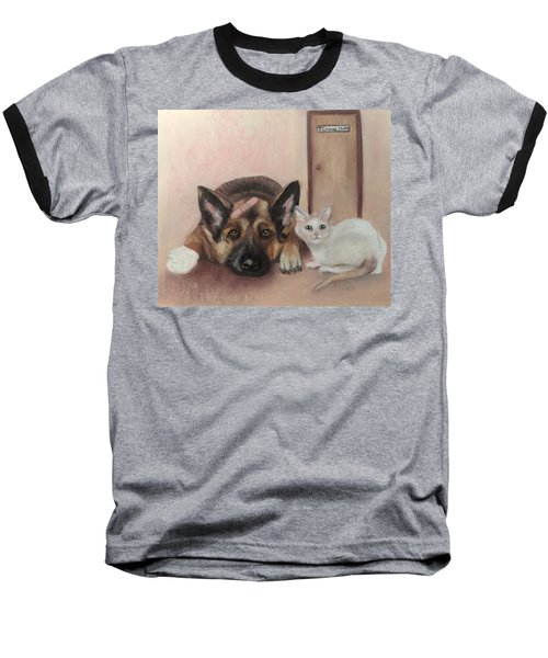 Don't Mess With The Cat  Baseball T-Shirt