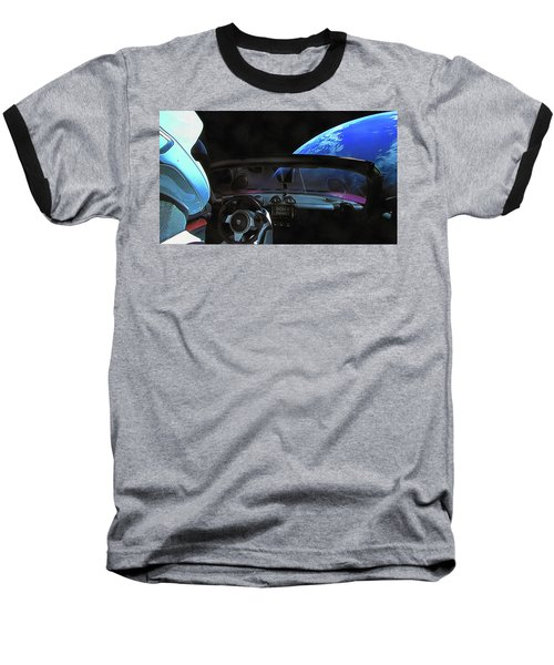 Dont Panic - Tesla In Space Baseball T-Shirt