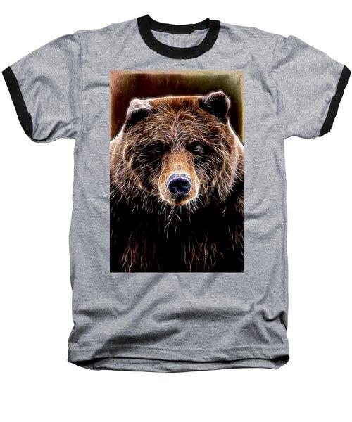 Nature Baseball T-Shirt featuring the digital art Don't Run by Aaron Berg
