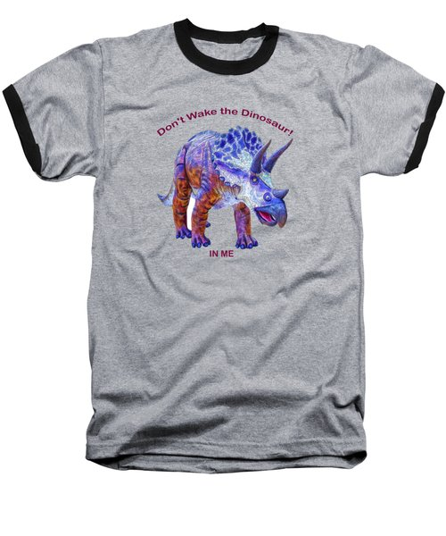 Dont Wake The Dinosaur Baseball T-Shirt