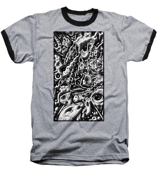 Doodle Emboss Baseball T-Shirt