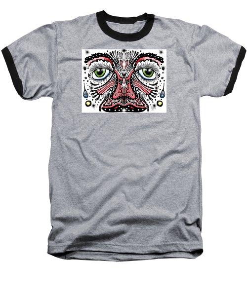 Doodle Face Baseball T-Shirt