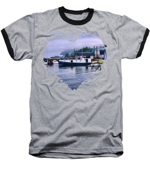 Baseball T-Shirt featuring the painting Door County Gills Rock Fishing Village by Christopher Arndt