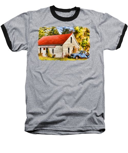 Baseball T-Shirt featuring the painting Door County Gus Klenke Garage by Christopher Arndt
