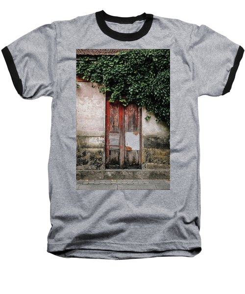 Baseball T-Shirt featuring the photograph Door Covered With Ivy by Marco Oliveira