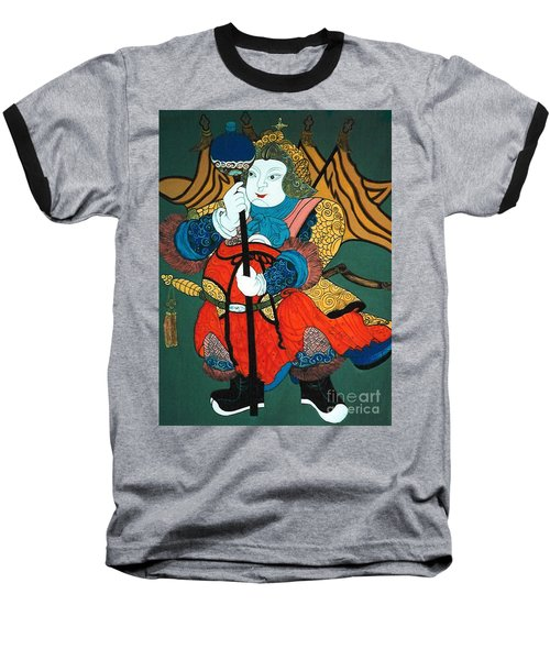 Baseball T-Shirt featuring the painting Door Guard No.2 by Fei A