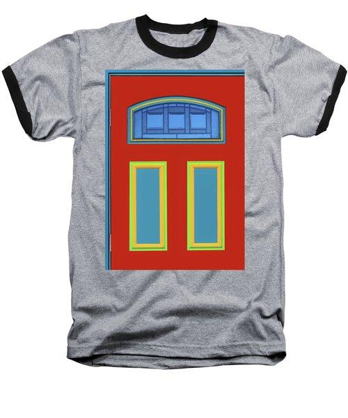 Door - Primary Colors Baseball T-Shirt by Nikolyn McDonald