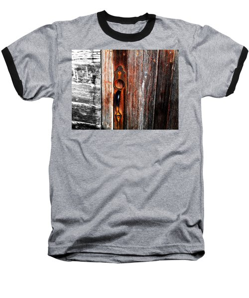 Door To The Past Baseball T-Shirt by Julie Hamilton