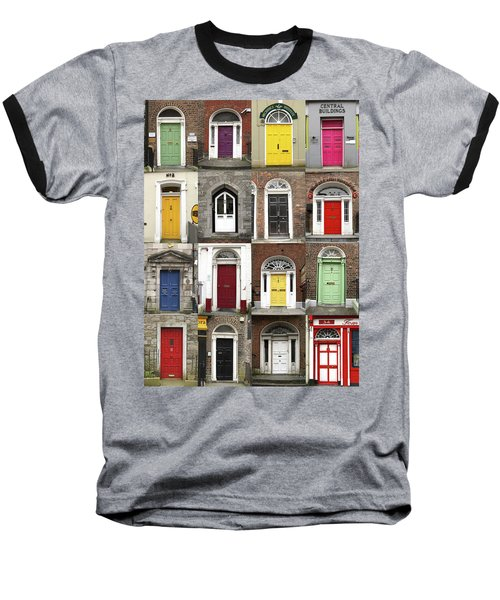 Baseball T-Shirt featuring the photograph Doors Of Limerick by Marie Leslie